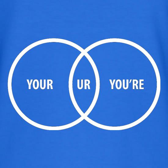 Your Ur You're t shirt